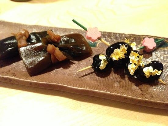 Kikaku: beans with gold foil!