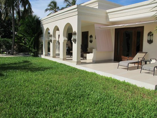 Baraza Resort & Spa: the back view of our villa