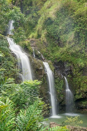 هانا كاي ماوي: Road to Hana: Three Bears Falls 