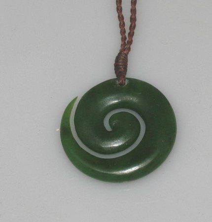 koru pendant jade p pounamu maori nephrite new necklace s greenstone zealand art