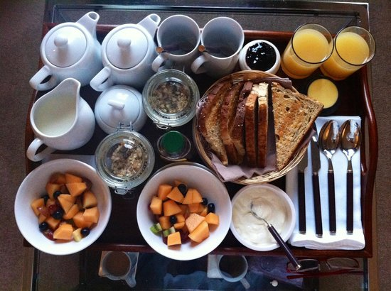Thirty Two Boutique Hotel: Breakfast delivered to our room yum yum!
