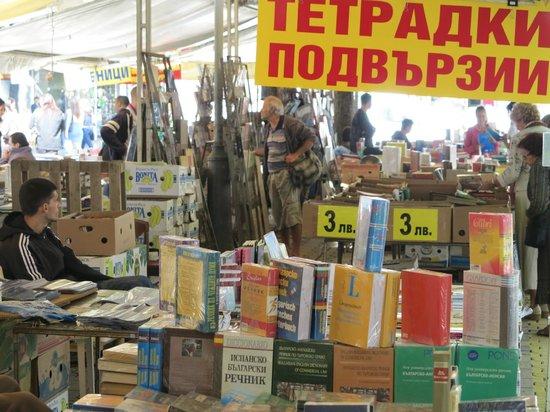 Slaveikov Square : Typical bookstalls