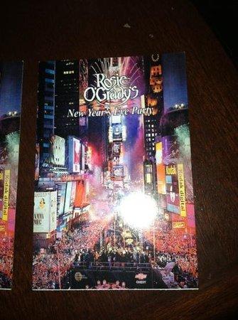 Rosie O'Grady's Pub: ticket for the night