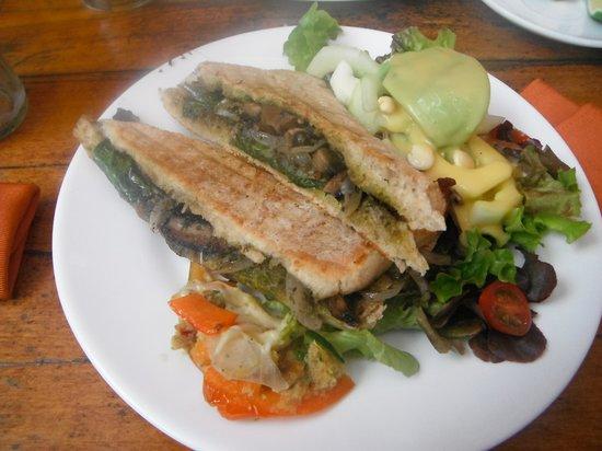 Magic Bean: Portobello panini!