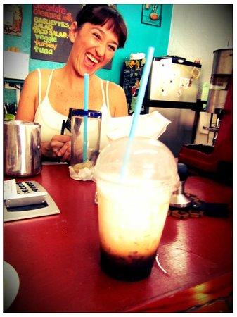 El Sofa Cafe: Latte Frio buenisimo