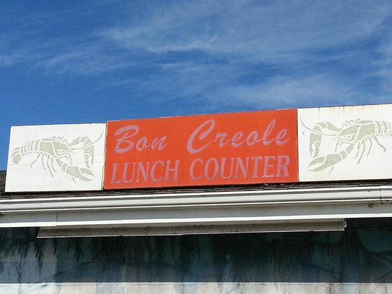 Bon Creole Seafood: Restaurant Name Over the Door