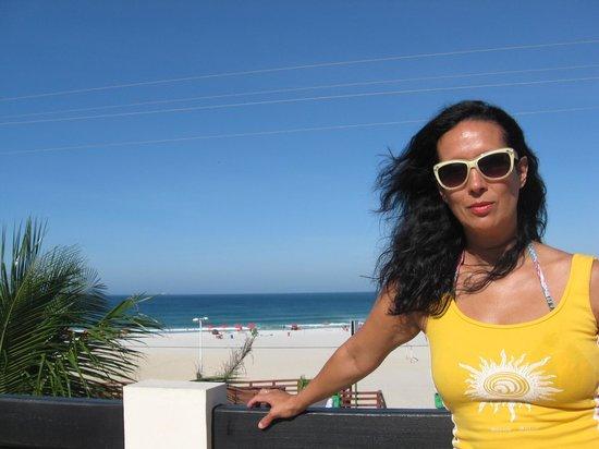 Varandas ao Mar Hotel: Desde la terraza de Varandas ao mar vista de Praia Grande