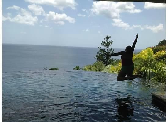 Jade Mountain Resort: Cannon Ball