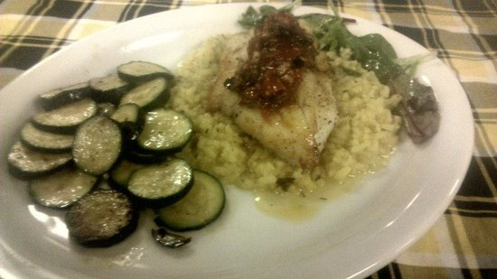 The Creek Grill: Orange Roughy with risotto and zuchini