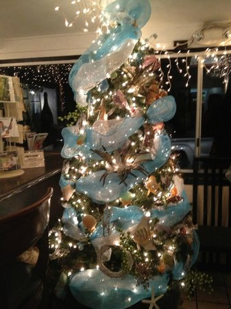 Nautical Themed Christmas Tree At The Seaside Restaurant