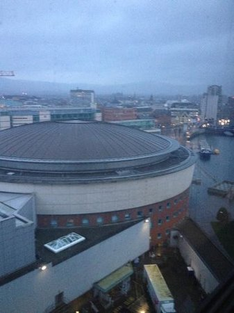 Hilton Belfast: view from my room