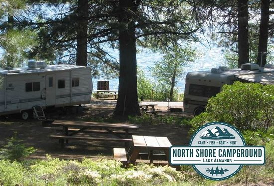 North Shore Campground: An RV site that is on the shoreline in Lake Almanor - Chester. You can't beat this!