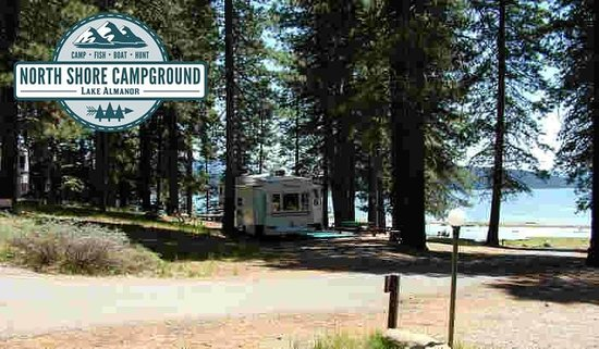 North Shore Campground: Check out this great RV and Tent site right on the shoreline! Can't beat this view in Lake Alman