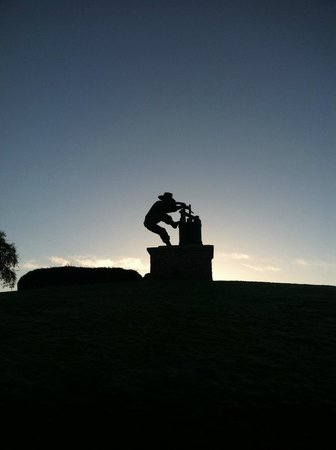 The Meritage Resort and Spa: Statue on the hill of the property
