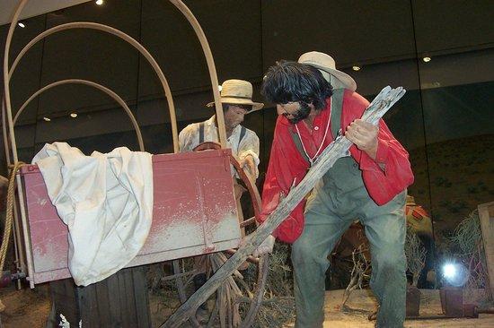 National Historic Oregon Trail Interpretive Center: Flat tires were a bit more problematic