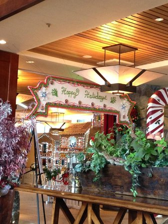 Christmas Lobby Resort at Squaw Creek