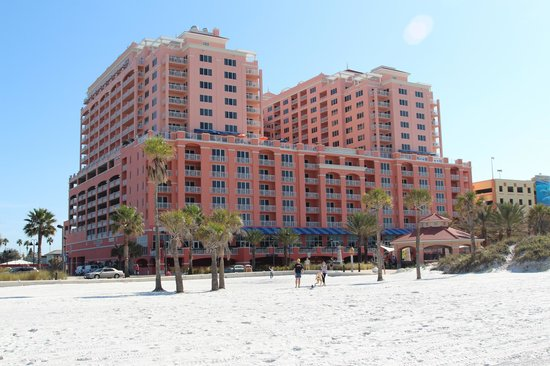 Hyatt Regency Clearwater Beach Resort & Spa: The hotel as seen from the beach