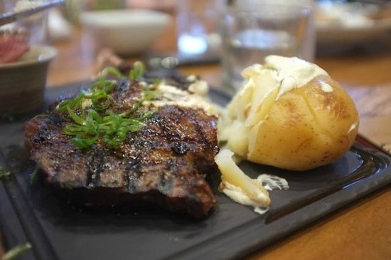 Hippo Creek Bar and Grill: Cape Grim Natural Grass Fed Angus Beef 700g Ribeye on the bone $77.0