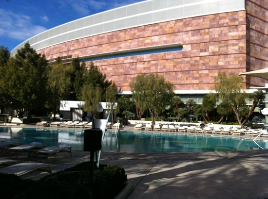 ARIA Resort & Casino: Just one of the many heated pools