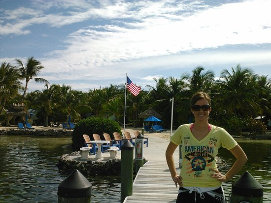 Island Bay Resort: This me standing on the dock by the beach area at the resort