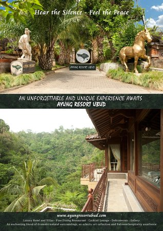 Ayung Resort Ubud: Main entrance and view from Hanoman Villa