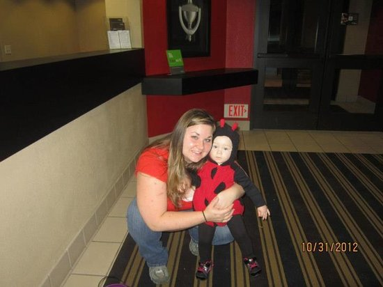 Extended Stay America - Philadelphia - Malvern - Great Valley: My daughter and I in the main lobby of the hotel on Halloween!