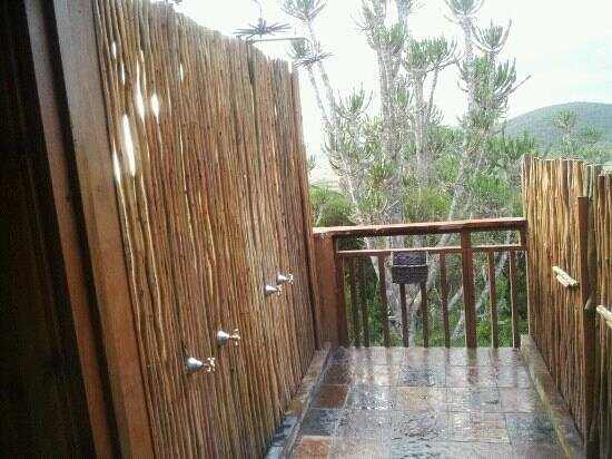 Addo Afrique Estate: outdoor shower off my room. very private. great view