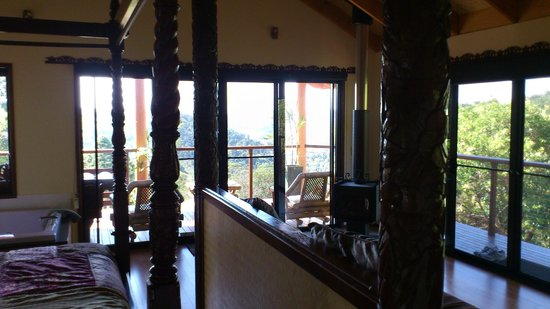 Maleny Tropical Retreat: Looking out to balcony from inside.
