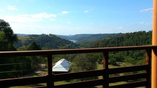 Maleny Tropical Retreat: View from balcony, 2 other villas below.