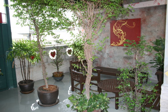 Cozy Bangkok Place Hostel: Rooftop garden