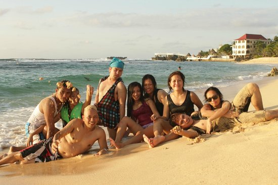 Treasures Of Bolinao Beach Resort My Friends And Family Enjoying The White Sand