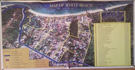 ‪‪White Beach‬: the map
