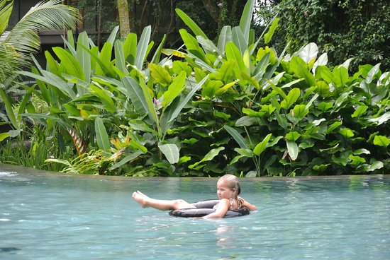 Siloso Beach Resort Sentosa: Inner tube relaxation.