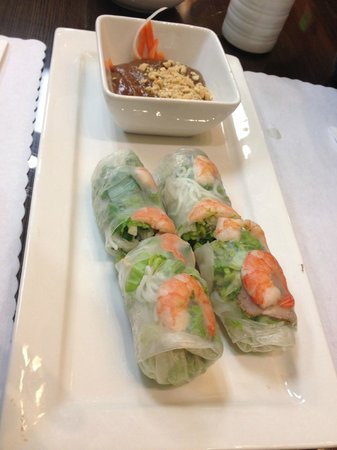 Pho 24: pork and shrimp fresh spring rolls