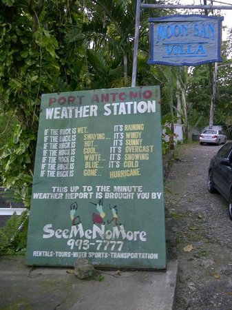 Moon San Villa: Weather Forecast before you enter Moon San :)