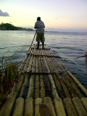 Moon San Villa: Sunset Raft ont he Lagoon , Most Romantic by Far :)