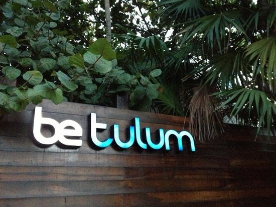Be Tulum Hotel: entrance