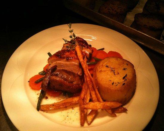 Livingston, UK: Braised Lamb Rump with Fondant Potatoes