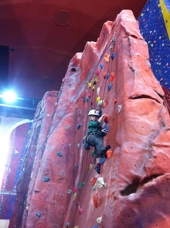 Awesome Walls Climbing Centre Stockport: The Fin- Great for kids Awesome Walls Stockport,
