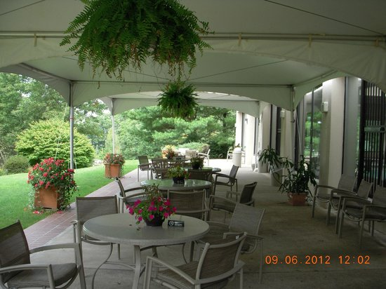 Holiday Inn Wilkes Barre East Mountain: Patio at rear of property