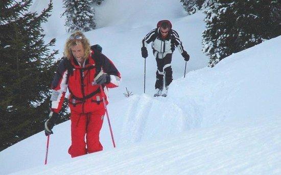 Pro-Skischule: Up we go !!
