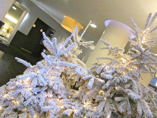 Sofitel Brussels Le Louise: Alberi di Natale nella hall