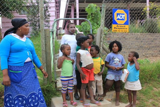 Ocean Blue: Hazel with some of the children in the township