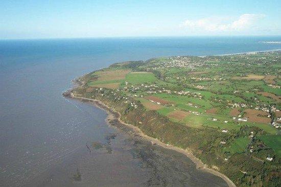 Bapteme ULM: Vue sur la côte - baie du Mont St Michel - ULM