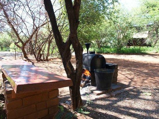 Mosetlha Bush Camp & Eco Lodge: Donkey boiler