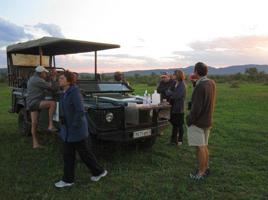 Mosetlha Bush Camp & Eco Lodge: Mosethla Bush Camp sundowners