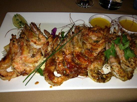The Girl`s Restaurant: heerlijke prawns met 3 verschillende marinades een topper !