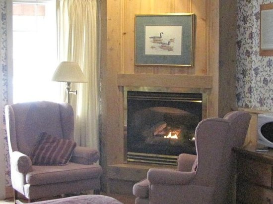 Algonquin Lakeside Inn: Cozy Fire
