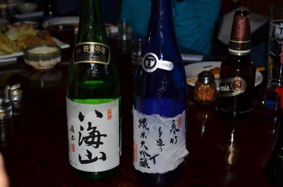 Tenpu: Sake enfriado en hielo ofrecido en el local.