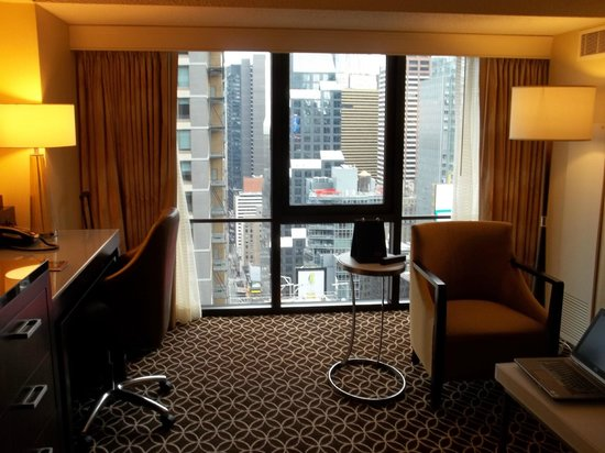 New York Marriott Marquis : Room view